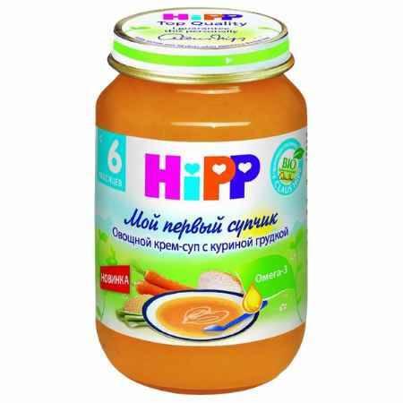 Купить Hipp Овощной крем-суп с куриной грудкой с 6 мес., 190 г