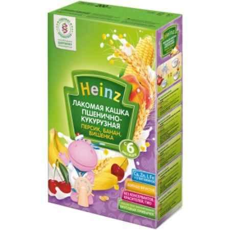 Купить Heinz Лакомая пшенично-кукурузная молочная кашка Персик, банан, вишенка с 6 мес. 200 г