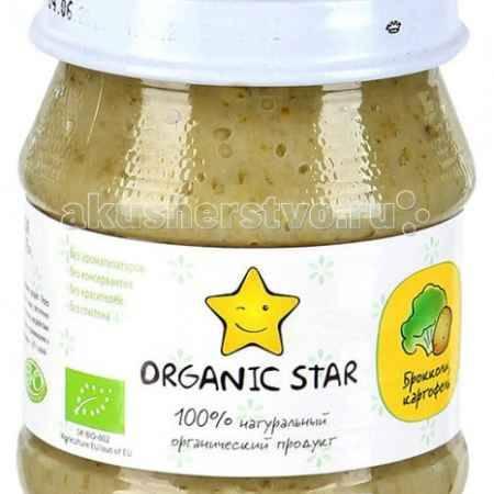 Купить Organic Star Пюре Брокколи и картофель с 5 мес. 100 г