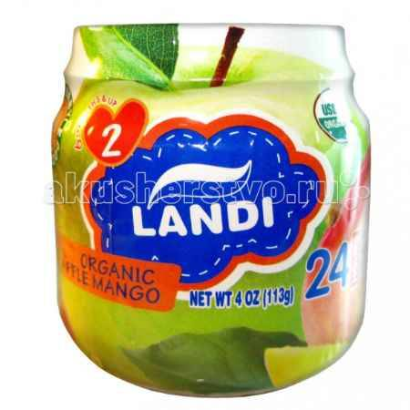 Купить Landi Пюре Яблоко с манго с 6 мес. 113 г