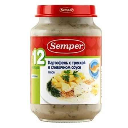 Купить Semper Пюре Картофель с треской в сливочном соусе с 12 мес., 190 г