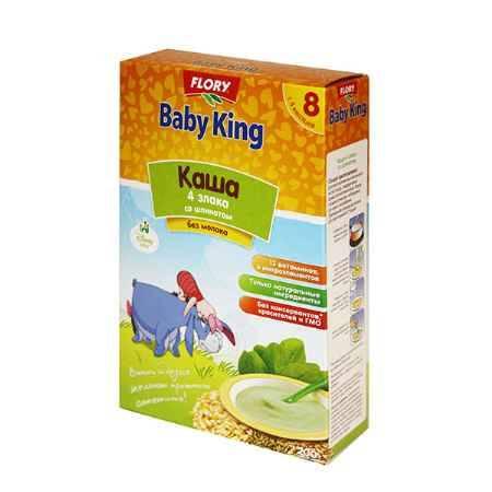 Купить Baby King Каша 4 злака с шпинатом