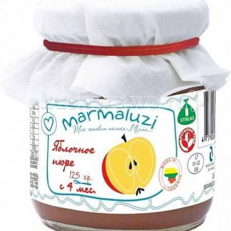 Купить Marmaluzi Пюре яблочное с 4 мес. 125 г