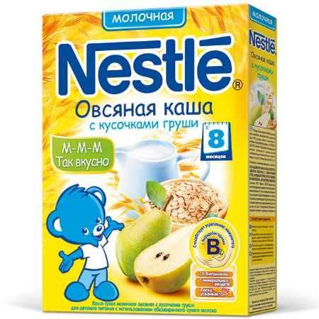 Купить Nestle Овсяная молочная каша с грушей с 8 мес. 250 г