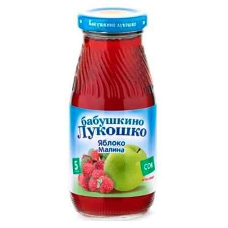 Купить Бабушкино лукошко Сок Яблоко, малина осветленный с 5 мес., 200 мл