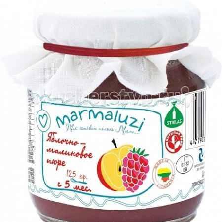 Купить Marmaluzi Пюре яблочно-малиновое с 5 мес. 125 г