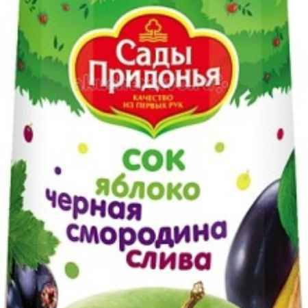 Купить Сады Придонья Сок Яблоко, черная смородина, слива с 8 мес. 300 мл