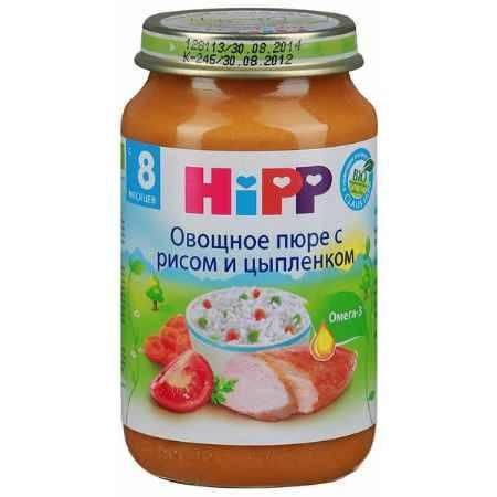 Купить Hipp Овощное пюре с рисом и цыпленком с 8 мес., 220 г