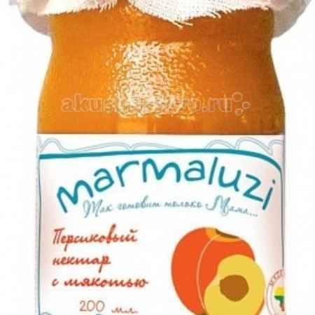 Купить Marmaluzi Напиток персиковый сокосодержащий с мякотью с 6 мес. 200 мл