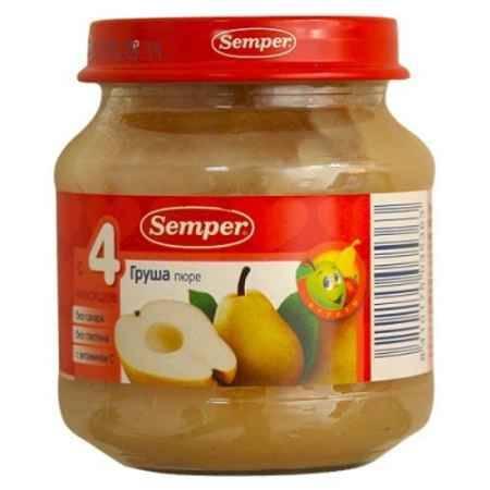 Купить Semper Пюре Груша с 4 мес., 125 г