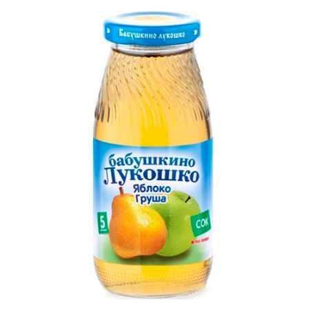 Купить Бабушкино лукошко Сок Яблоко, груша осветленный с 5 мес., 200 мл