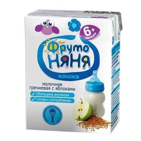 Купить ФрутоНяня Кашка молочная гречневая с яблоками и пребиотиками жидкая с 6 мес. 200 мл