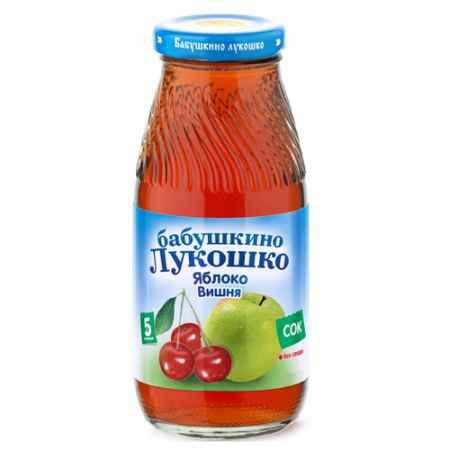 Купить Бабушкино лукошко Сок Яблоко, вишня осветленный с 5 мес., 200 мл