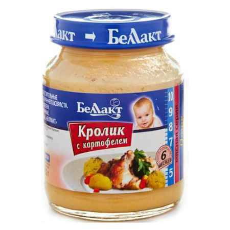 Купить Беллакт Пюре Кролик с картофелем с 6 мес., 130 г
