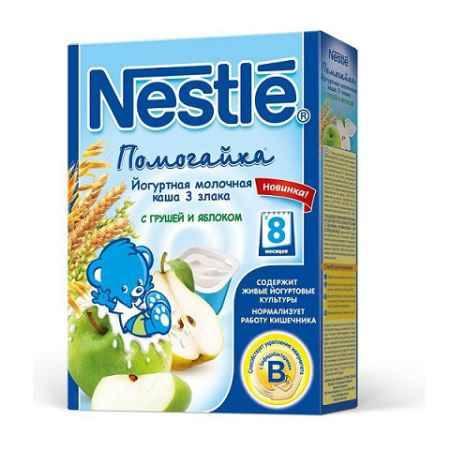 Купить Nestle Каша Помогайка йогуртная 3 злака с грушей и яблоком с 8 мес. 200 г