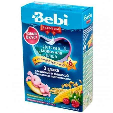 Купить Bebi Молочная каша Premium Для сладких снов 3 злака с малиной и мелиссой с 6 мес. 200 г