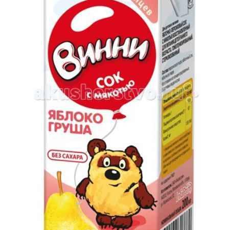 Купить Винни Сок с мякотью Яблоко-груша