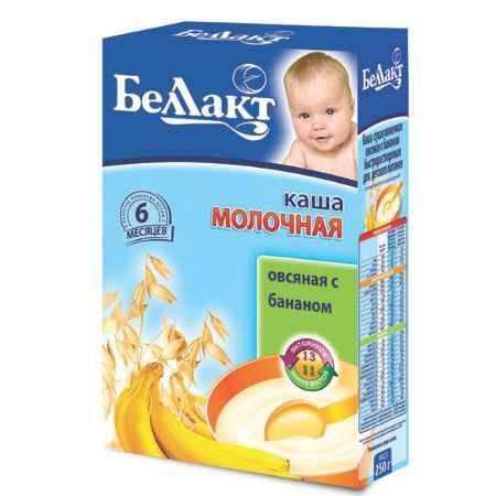 Купить Беллакт Овсяная каша с бананом молочная с 6 мес., 250 г