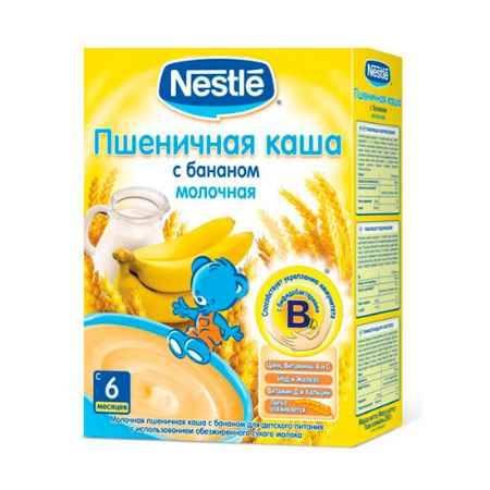 Купить Nestle Пшеничная молочная каша с бананом с 6 мес. 250 г