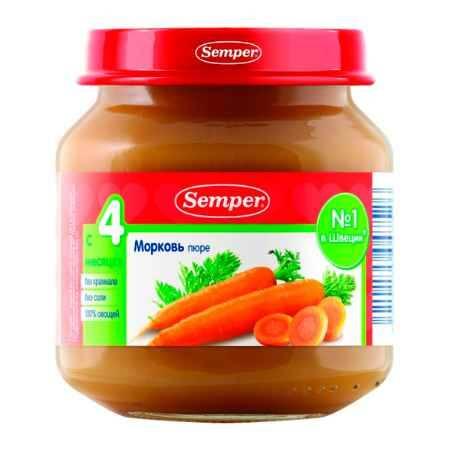 Купить Semper Пюре морковь с 4 мес. 125 г