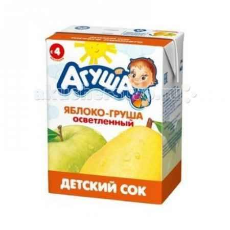 Купить Агуша Сок детский осветленный без сахара Яблоко-Груша 200 мл
