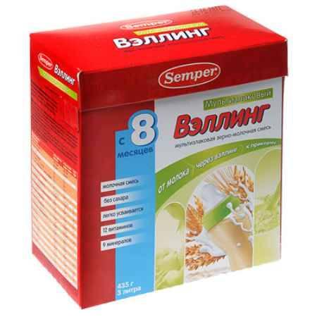 Купить Semper Молочно-зерновая смесь Веллинг Мультизлаковый с 8 мес., 435 гр.