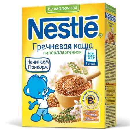 Купить Nestle Гречневая безмолочная каша с бифидобактериями витаминами и минералами с 4 мес. 200 г
