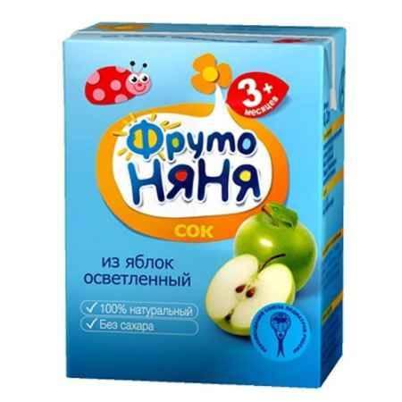 Купить ФрутоНяня Сок из яблок осветленный с 3 мес., 200 мл (тетра пак)