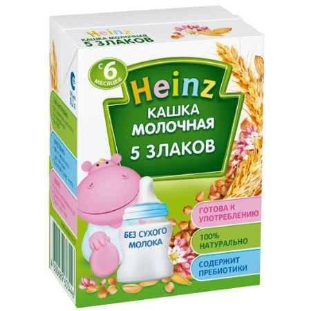 Купить Heinz Готовая молочная многозерновая кашка из 5 злаков с 6 мес. 200 мл
