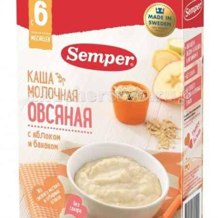 Купить Semper Каша Молочная овсяная с яблоком и бананом с 6 мес 200 г