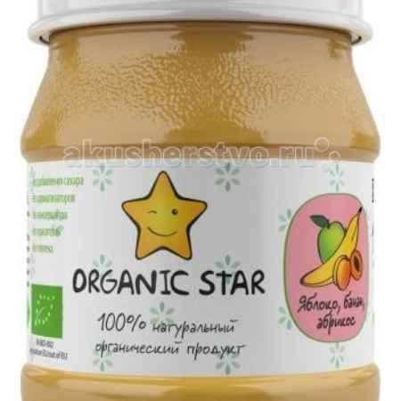 Купить Organic Star Пюре Яблоко, банан, абрикос с 6 мес. 100 г