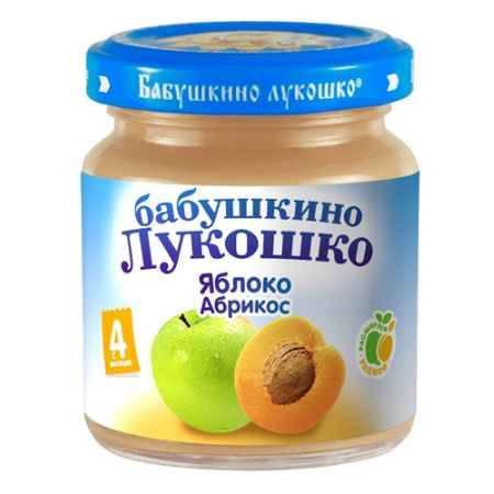 Купить Бабушкино лукошко Пюре Яблоко, абрикос с 4 мес., 100 г