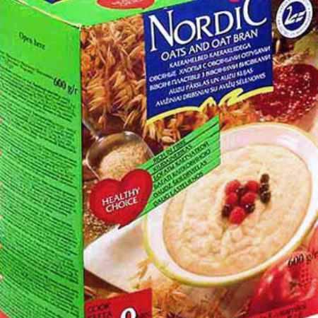 Купить Nordic Безмолочная каша Овсяные хлопья с овсяными отрубями 600 г