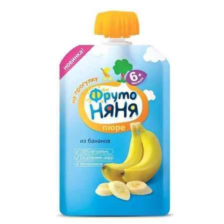 Купить ФрутоНяня Пюре из бананов с 6 мес., 90 г (пауч)