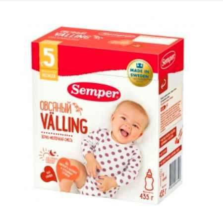 Купить Semper Молочно-зерновая смесь Веллинг Овсяный с 5 мес., 435 гр.
