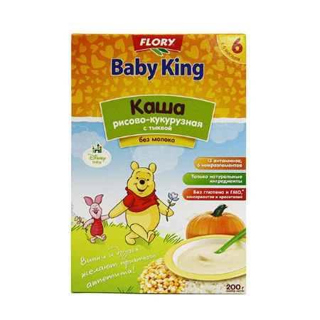 Купить Baby King Рисово-кукурузная каша с тыквой