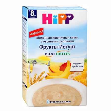 Купить Hipp Молочная пшеничная с овсяными хлопьями Фрукты-Йогурт c 8 мес,. 250 гр.