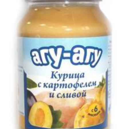 Купить Агу-Агу Пюре Курица с картофелем и сливой с 6 мес. 190 г