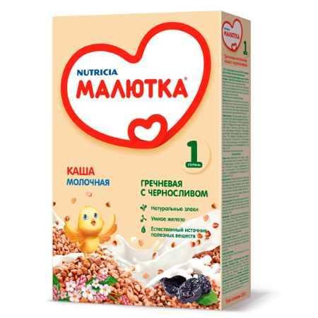 Купить Малютка Гречневая молочная каша с черносливом с 4 мес. 220 г