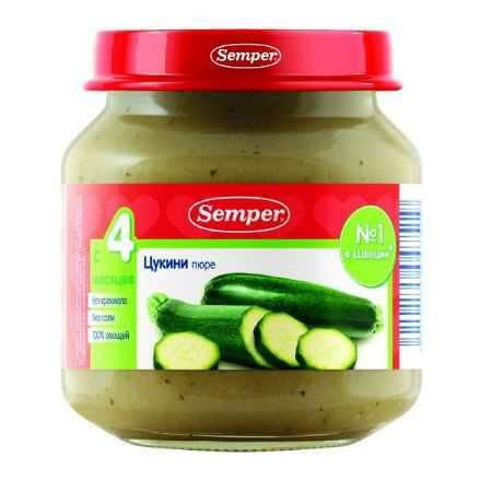 Купить Semper Пюре цукини с 4 мес. 125 г