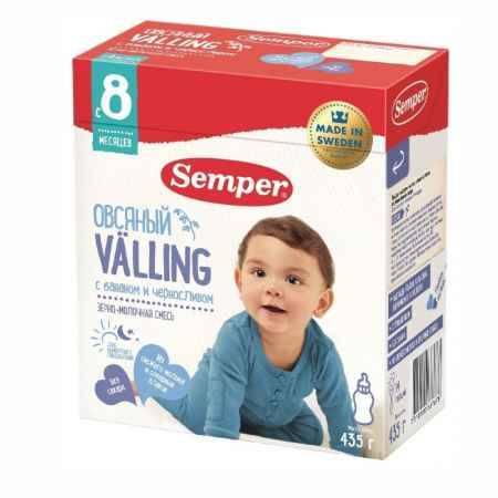 Купить Semper Молочно-зерновая смесь Веллинг Овсяный с бананом и черносливом с 8 мес., 435 гр.