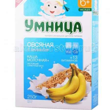 Купить Сами с усами Умница Каша молочная овсяная с бананом 6 мес. 200 г