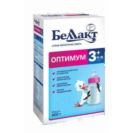 Купить Беллакт Сухая молочная смесь Оптимум 3+ 400 г