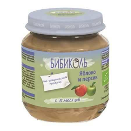 Купить Бибиколь Органическое пюре Яблоко и Персик с 5 мес. 125 г