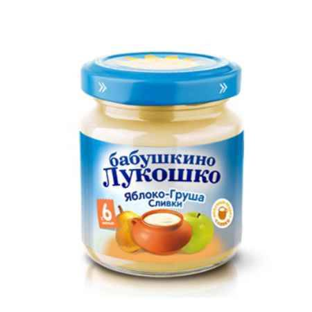 Купить Бабушкино лукошко Пюре груша со сливками с 6 мес. 100 г
