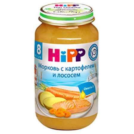 Купить Hipp Пюре морковь с картофелем и лососем с 8 мес. 220 г