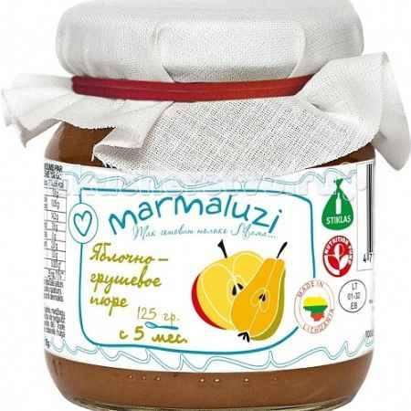 Купить Marmaluzi Пюре яблочно-грушевое с 5 мес. 125 г