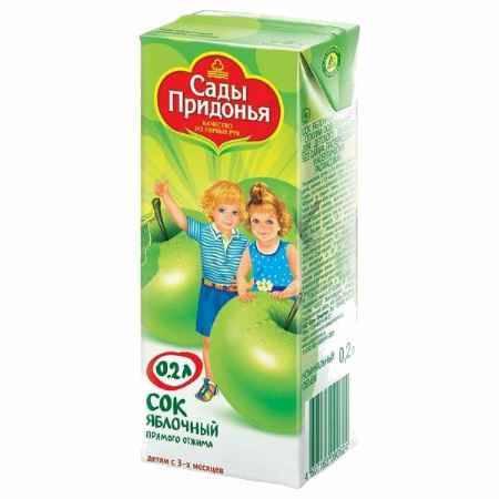 Купить Сады Придонья Сок Яблочный прямого отжима с 3 мес., 200 мл