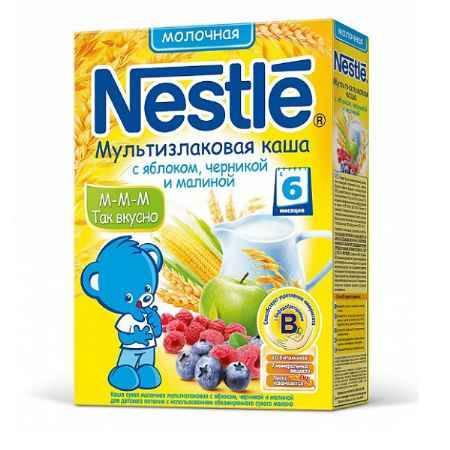 Купить Nestle Мультизлаковая каша с яблоком, черникой и малиной с 6 мес. 250 г