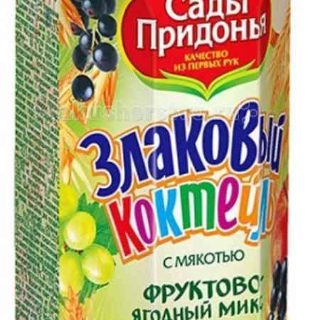 Купить Сады Придонья Злаковый коктейль Фруктово-ягодный микс и 4 злака с 12 мес. 250 мл